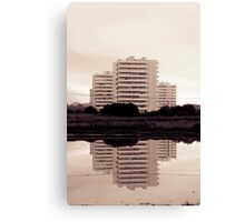 Buildings reflections Canvas Print