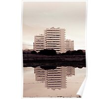 Buildings reflections Poster