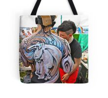 Punked Stallion Tote Bag