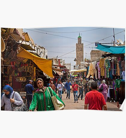 Morocco. Rabat. Medina. Poster