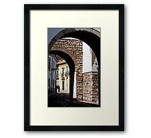 historical street Framed Print