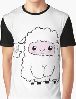 Meh. Sheep of Indifference Graphic T-Shirt