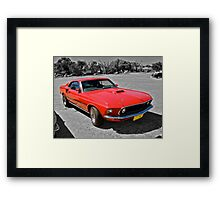 Red Mach 1 Ford Mustang Framed Print