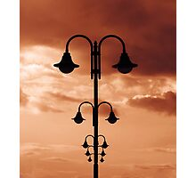 Street light poles aligned Photographic Print