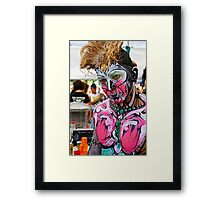 Punked  Portrait In Pink Framed Print