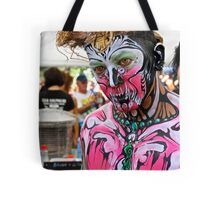 Punked  Portrait In Pink Tote Bag