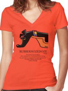 Rubbernozedoze Tee Colour Women's Fitted V-Neck T-Shirt