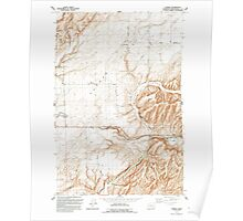 USGS Topo Map Washington State WA Eureka 241087 1991 24000 Poster