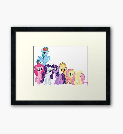 Mane 6 Pixel My Little Pony Brony Pegasister Framed Print