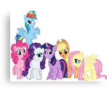 Mane 6 Pixel My Little Pony Brony Pegasister Canvas Print