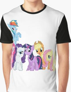 Mane 6 Pixel My Little Pony Brony Pegasister Graphic T-Shirt