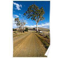 Rural road - Colebrook, Tasmania Poster