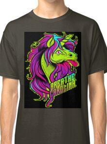 Breath Caolina-Unicorn(green/black splotch) Classic T-Shirt