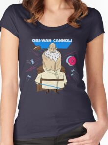 Obi-Wan Cannoli (PUN PANTRY) Women's Fitted Scoop T-Shirt