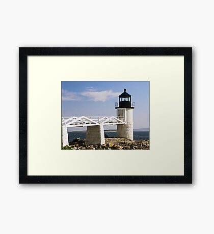 Marshall Point Lighthouse & Causeway, Port Clyde, Maine Framed Print