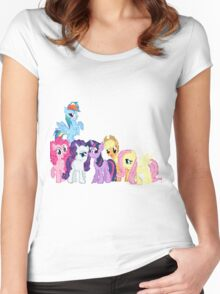 Mane 6 Pixel My Little Pony Brony Pegasister Women's Fitted Scoop T-Shirt