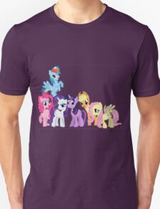 Mane 6 Pixel My Little Pony Brony Pegasister Unisex T-Shirt