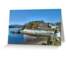 Portree Pier Greeting Card