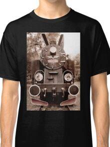 Antique locomotive sepia toned Classic T-Shirt