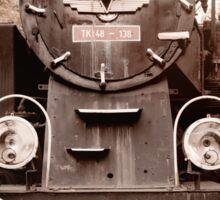 Antique locomotive sepia toned Sticker