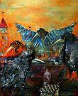 City Of Blue Birds by Monica Blatton