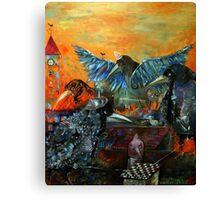 City Of Blue Birds Canvas Print