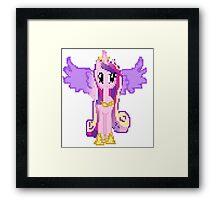 Princess Cadance Pixel My Little Pony Brony Pegasister Framed Print