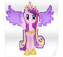 Princess Cadance Pixel My Little Pony Brony Pegasister Poster