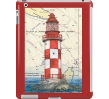 Cape North Race Lighthouse NS Canada Map Cathy Peek iPad Case/Skin
