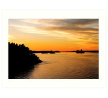 Voyage into Sunset Art Print