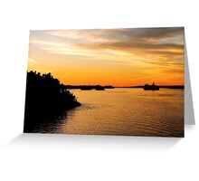 Voyage into Sunset Greeting Card