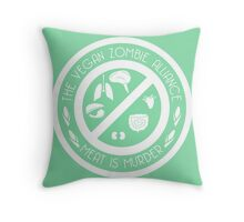 The Vegan Zombie Alliance Throw Pillow