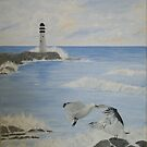 Seagull Lighthouse by Linda Bennett