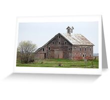 Old Kansas Barn Greeting Card