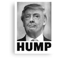 HUMP HILLARY TRUMP Morph Canvas Print