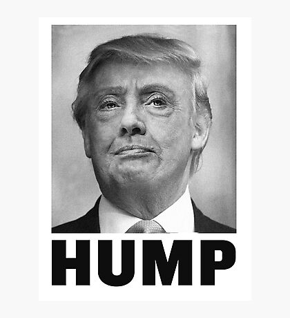 HUMP HILLARY TRUMP Morph Photographic Print