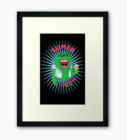 Trendy Slimer Framed Print