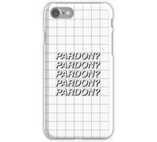 PARDON? GRID iPhone Case/Skin
