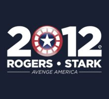 Vote Rogers & Stark 2012 (White Text) Baby Tee