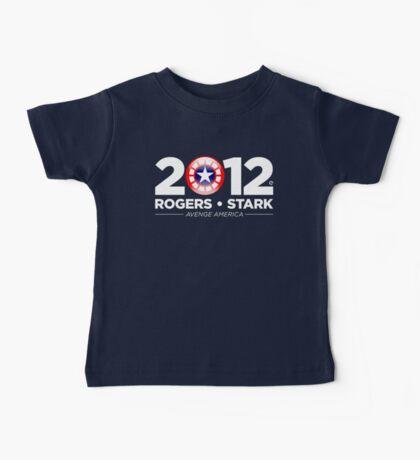 Vote Rogers & Stark 2012 (White Text) Baby Tee