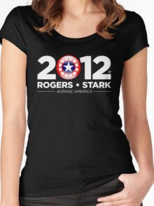 Vote Rogers & Stark 2012 (White Text) Women's Fitted Scoop T-Shirt