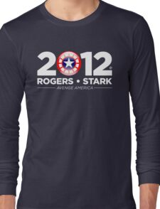 Vote Rogers & Stark 2012 (White Text) Long Sleeve T-Shirt