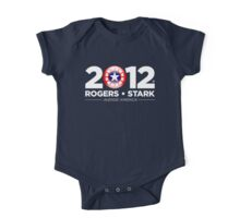 Vote Rogers & Stark 2012 (White Text) One Piece - Short Sleeve