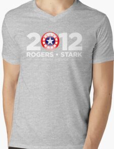 Vote Rogers & Stark 2012 (White Text) Mens V-Neck T-Shirt