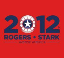 Vote Rogers & Stark 2012 (Blue Text) Kids Clothes