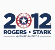 Vote Rogers & Stark 2012 (Blue Text) Kids Tee