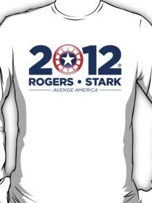 Vote Rogers & Stark 2012 (Blue Text) T-Shirt