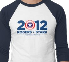 Vote Rogers & Stark 2012 (Blue Text) Men's Baseball ¾ T-Shirt