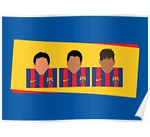 Messi, Suárez, Neymar - Barcelona Poster