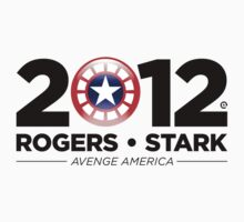 Vote Rogers & Stark 2012 (Black Text) Baby Tee